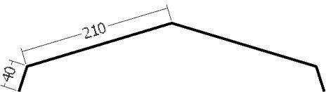 Hřebenáč, rš. 500 mm, tl. 0,6 mm - Al lakovaný