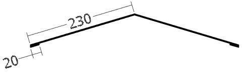 Hřebenáč na perforovanou lištu, rš. 500 mm, tl. 0,6 mm - Al lakovaný