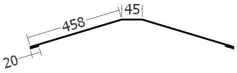 Hřebenáč na lať na perforovanou lištu, rš. 1000 mm, tl. 0,6 mm - Al lakovaný