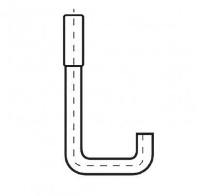 Hákový šroub tvar U, FeZn přírodní (rozměr nutno upřesnit)