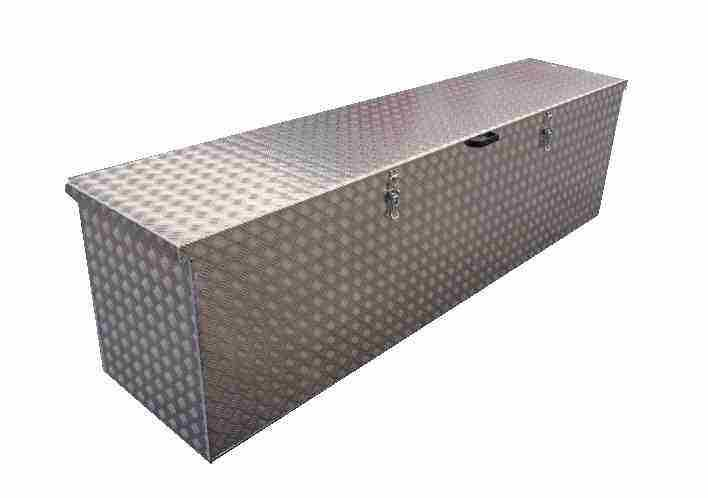 Hliníková bedna z protiskluzového plechu - výroba na zakázku