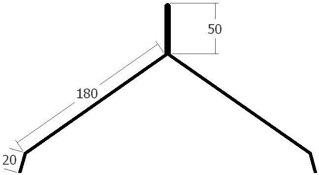 Hřebenáč pro hromosvod, rš. 500 mm, tl.0,6 mm - Al lakovaný