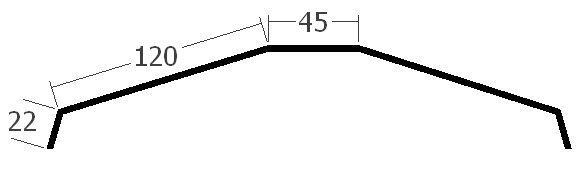 Hřebenáč na lať, rš. 330 mm, tl. 0,6 mm - Al přírodní