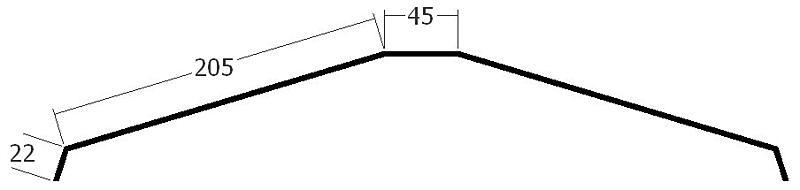 Hřebenáč na lať, rš. 500 mm, tl. 0,6 mm - Al přírodní