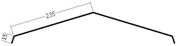 Hřebenáč, rš. 500 mm, tl. 0,6 mm - Al přírodní