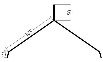 Hřebenáč pro hromosvod, rš. 500 mm, tl. 0,6 mm - Al  přírodní